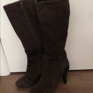 Shoes - Suede leather boots brown size 10M
